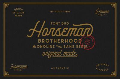 Horseman Font Duo