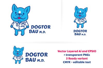 Dogtor Bau M.d. veterinary logo