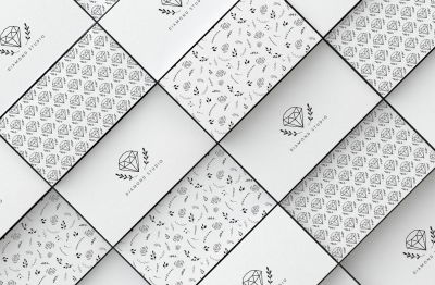 2 Diamonds Business Card templates