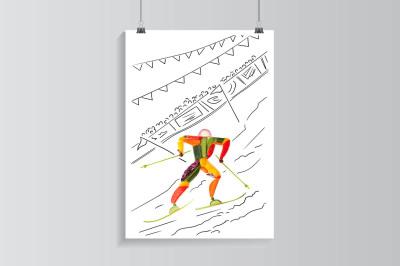Fruity slalom.