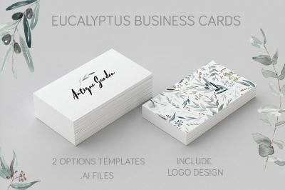 2 Eucalyptus Business Card Template