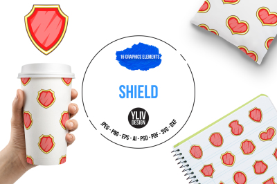 Shield illustrations and graphics