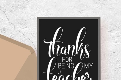 Thanks for being my teacher Printable