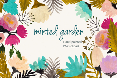Minted garden  PNG clipart