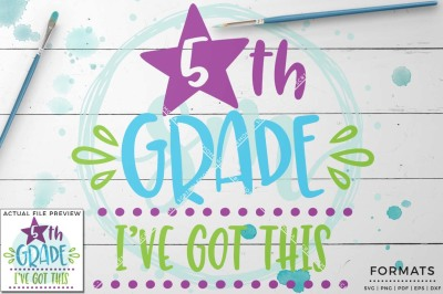 Fifth Grade SVG - Small Commercial Use SVG & Instant Download