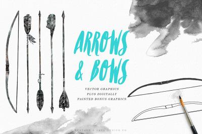 Hand Drawn Arrows & Bows