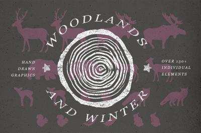 Woodlands & Winter Illustrations