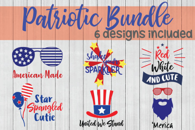 Patriotic SVG Bundle, Fourth of July SVG, Cuttable Files