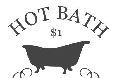 Hot Bath SVG