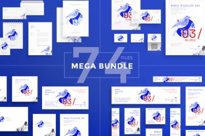 Design templates bundle | flyer, banner, branding | World Wildlife Day