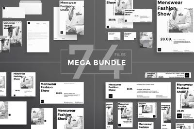 Design templates bundle | flyer, banner, branding | Menswear Show