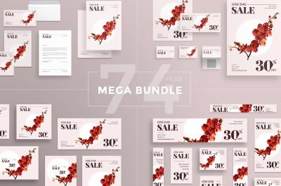 Design templates bundle | flyer, banner, branding | Cosmetics Sale