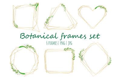 Geometrical frames with watercolor