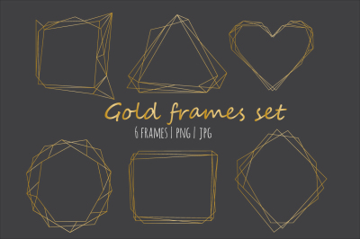 Geometrical Gold Frames