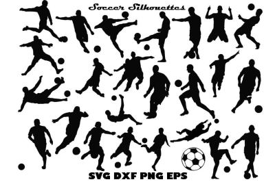 Soccer Silhouette SVG PNG DXF EPS