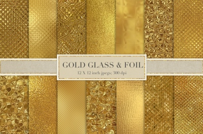 Gold Glass Textures