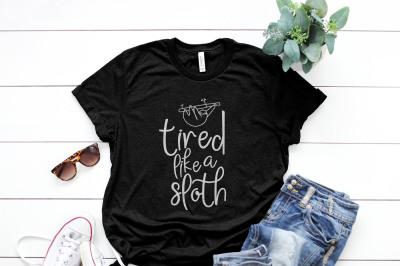 tired like a sloth Printable