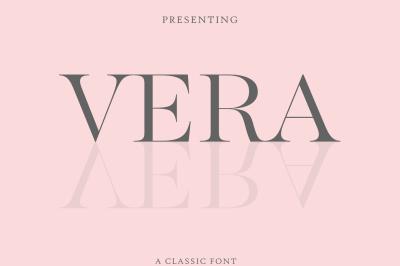 Vera Font-An Classic Elegant Font