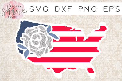 United States Rose SVG PNG EPS DXF Cutting Files