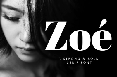 Zoé Font - A Strong & Bold Font