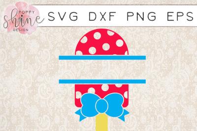 Popsicle Split Monogram Frame SVG PNG EPS DXF Cutting Files