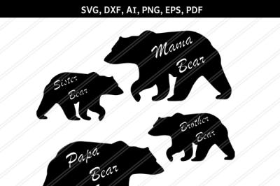 Mama Bear SVG, Little SVG, Mama Bear svg, Mama Cut Files