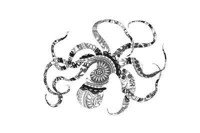 Mandala Octopussy SVG PNG DXG EPS