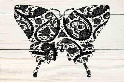 Mandala butterfly SVG PNG DXF EPS
