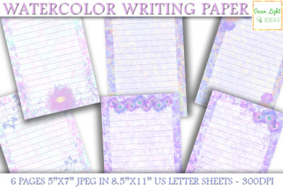 Watercolor Writing Paper, Watercolor Journal Pages