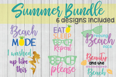 Summer SVG Bundle, Beach SVG, Cuttable File