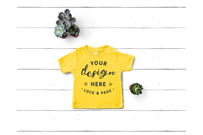 Bella Canvas 3001T TShirt Mockup Yellow