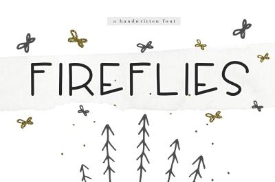 Fireflies - A Cute Handwritten Font