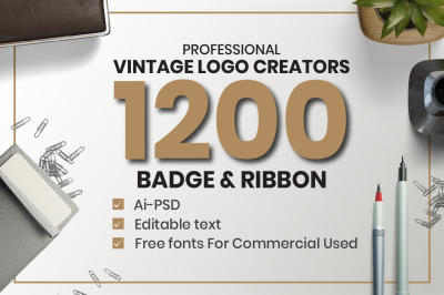 1200 Vintage Badge & Objects