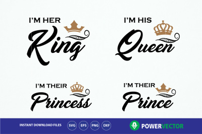 King Queen Princess Prince T shirts. Royal Family Shirt Design