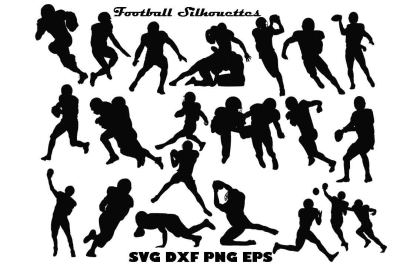 Football Silhouette SVG PNG DXF EPS