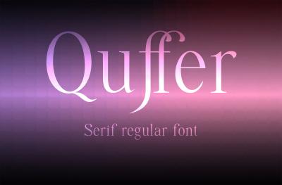 Quffer, serif regular font