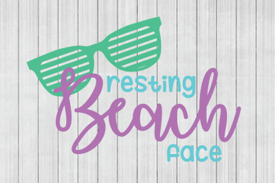 Resting Beach Face SVG, Beach SVG, Summer SVG, Cuttable File