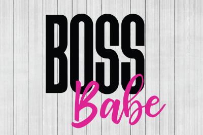 Boss Babe SVG, Girl Boss SVG, Girl Power SVG, DXF File, Cuttable File