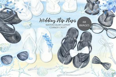 Wedding flip flops clipart