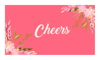 Cheers Floral Gift Tag