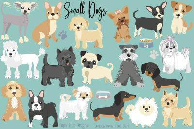 Small Dogs Clipart