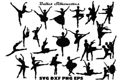 Ballet Silhouette SVG PNG DXF EPS