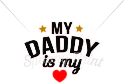 My daddy is my hero Printable