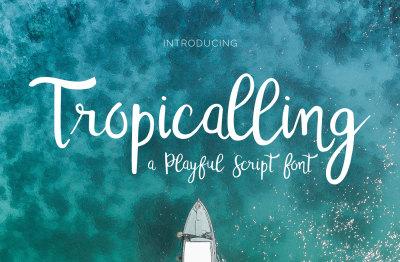 Tropicalling - A Playful Script Font