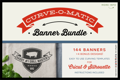 CURVE-O-MATIC Banner Bundle - Curved Text Banner Toolkit