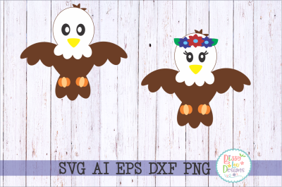 Eagle SVG DXF EPS PNG AI cutting file