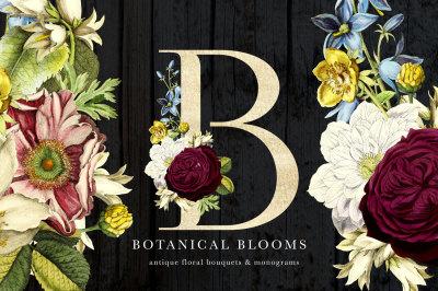 Botanical Blooms and Monograms