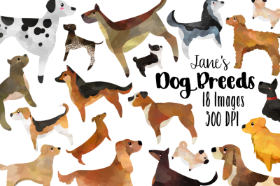 Watercolor Dog Breeds