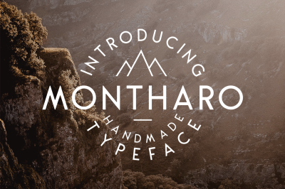 Montharo Typeface + Extras