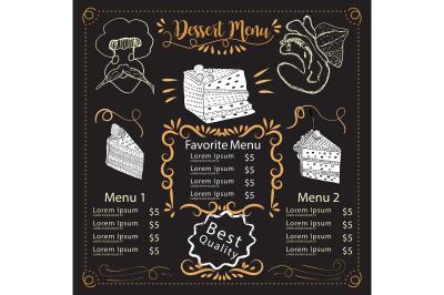 Dessert Menu -  Restaurant menu